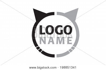 Vector - Cattery Or Pet Shop Logo, Isolated On White Background. Vector Illustration.