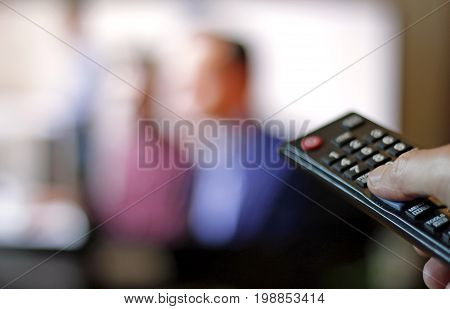 Flicking TV channels with a remote control