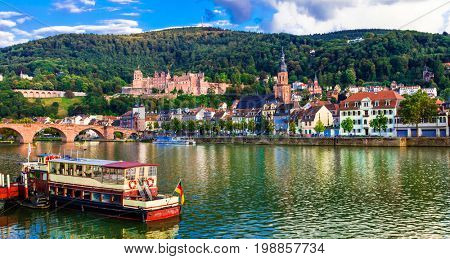 Landmarks and beautiful places of Germany - medieval Heidelberg town