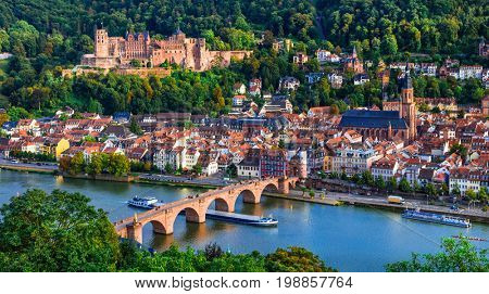 Landmarks and beautiful towns of Germany - medieval  Heidelberg