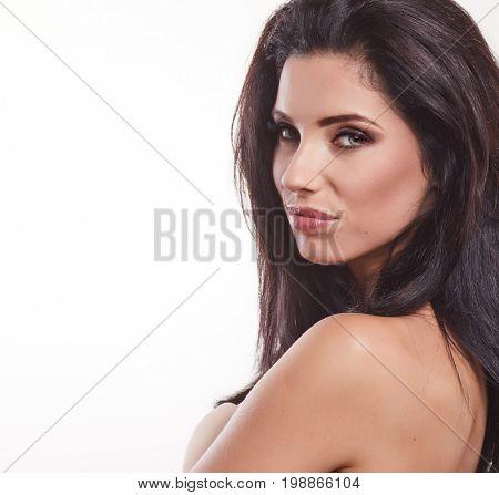Beautiful Woman face. Beauty Portrait