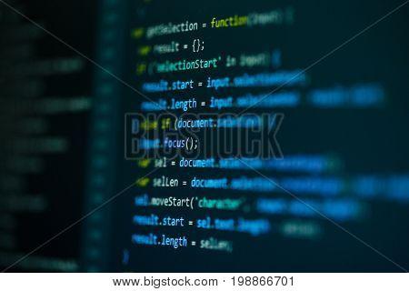 Computer source code programmer script developer