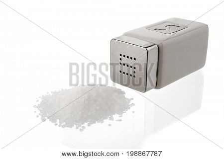 Salt shaker isolated on white background.