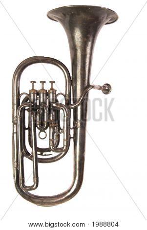 Antique Baritone Horn, White Iso