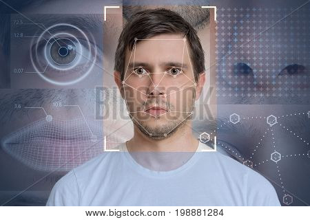 Face Detection And Recognition Of Man. Computer Vision And Machi