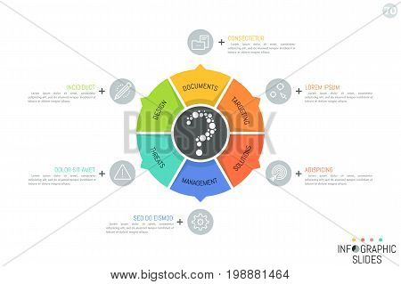 Circular diagram vector photo free trial bigstock circular diagram divided into 6 sectors with arrows pointing at icons and text boxes simple ccuart Choice Image