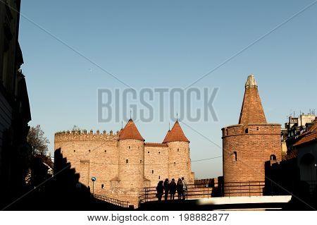 Castillo histórico ciudad de Varsovia día soleado