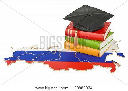 Education in Russia concept 3D rendering isolated on white background