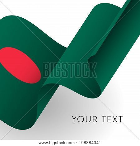 Bangladesh flag. Patriotic design. Waving flag. Vector illustration.