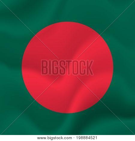 Bangladesh waving flag. Waving flag. Vector illustration.