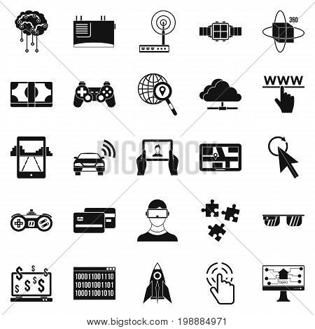 Experience icons set. Simple set of 25 experience vector icons for web isolated on white background