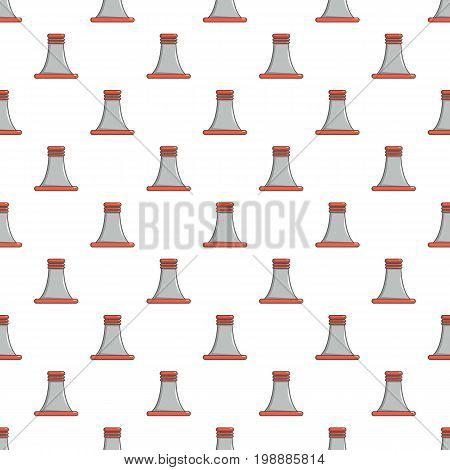 Cooling smoke tower pattern in cartoon style. Seamless pattern vector illustration