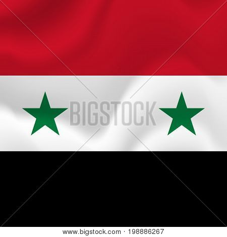 Syria flag background. Waving flag. Vector illustration.