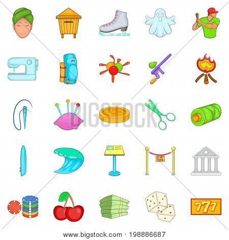 Theatrical icons set. Cartoon set of 25 theatrical vector icons for web isolated on white background