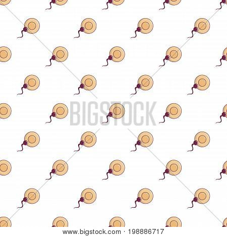 Human fertilization pattern in cartoon style. Seamless pattern vector illustration