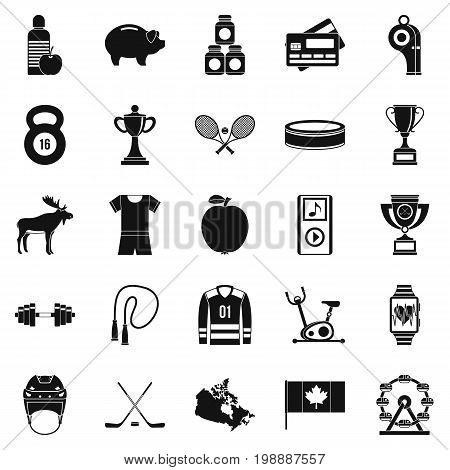 Sports uniform icons set. Simple set of 25 sports uniform vector icons for web isolated on white background