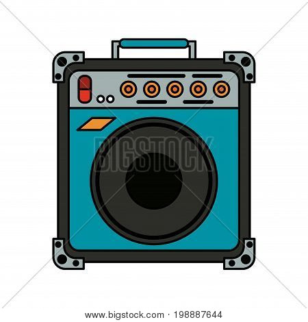 guitar amplifier icon image vector illustration design
