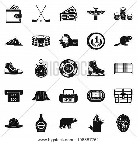 Hockey referee icons set. Simple set of 25 hockey referee vector icons for web isolated on white background