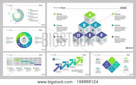 Infographic design set can be used for workflow layout, diagram, annual report, presentation, web design. Business and planning concept with process, timing, doughnut and percentage charts.