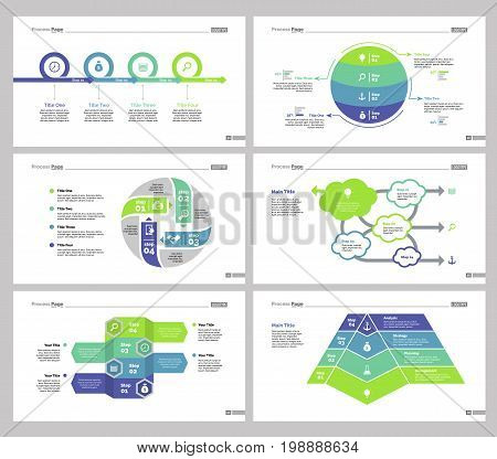 Infographic design set can be used for workflow layout, diagram, annual report, presentation, web design. Business and teamwork concept with process, flow and percentage charts.