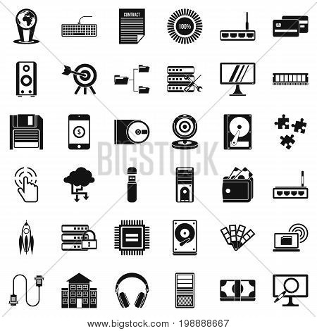 Web growth icons set. Simple style of 36 web growth vector icons for web isolated on white background