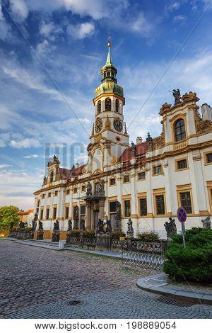 Pilgrim place Loreta  church in Prague, Czech Republic