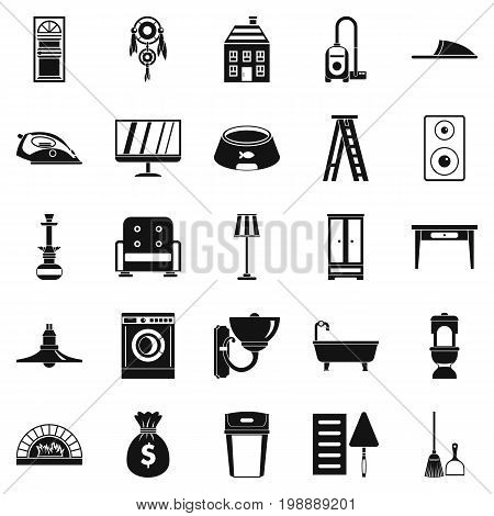 Quarters icons set. Simple set of 25 quarters vector icons for web isolated on white background