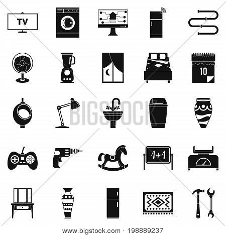 Sleeping quarters icons set. Simple set of 25 sleeping quarters vector icons for web isolated on white background