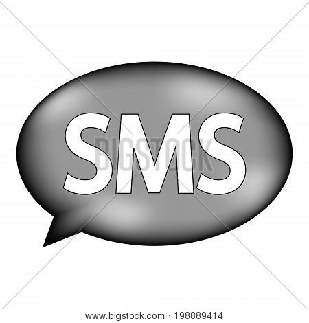 Sms sign icon on white background. Vector illustration.