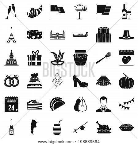 Wine celebration icons set. Simple style of 36 wine celebration vector icons for web isolated on white background