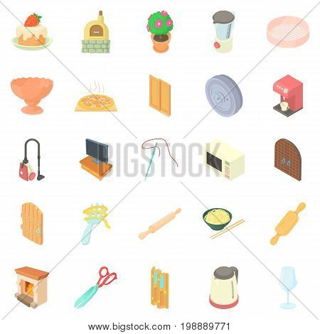 Homestead icons set. Cartoon set of 25 homestead vector icons for web isolated on white background