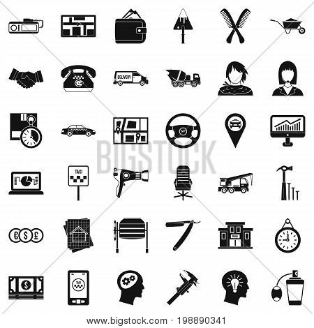 Good work icons set. Simple style of 36 good work vector icons for web isolated on white background