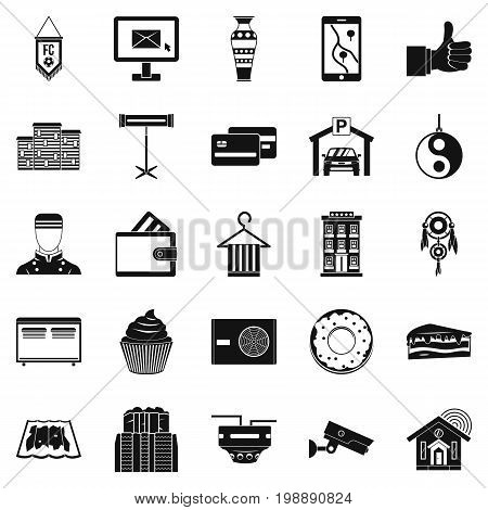 Lodge icons set. Simple set of 25 lodge vector icons for web isolated on white background