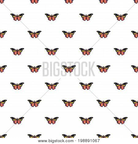 Wandered butterfly pattern in cartoon style. Seamless pattern vector illustration