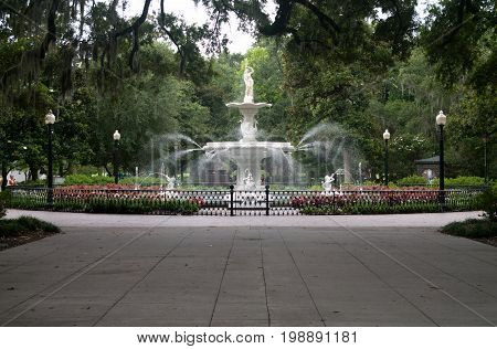 Forsyth Park Fountian found in Savannah Georgia