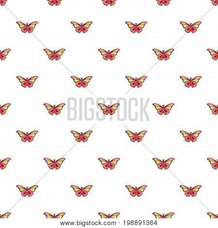 Butterfly archippus sangaris pattern in cartoon style. Seamless pattern vector illustration