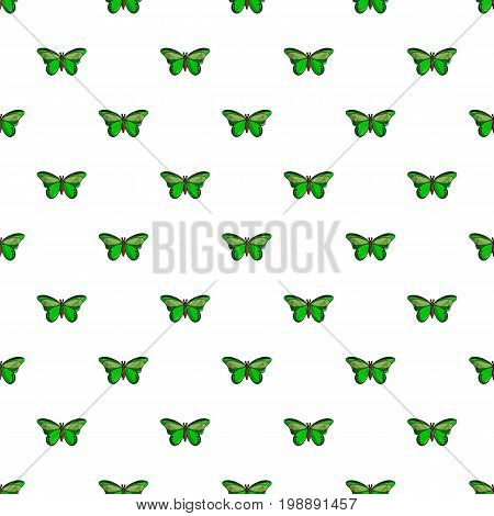 Butterfly great mormon pattern in cartoon style. Seamless pattern vector illustration