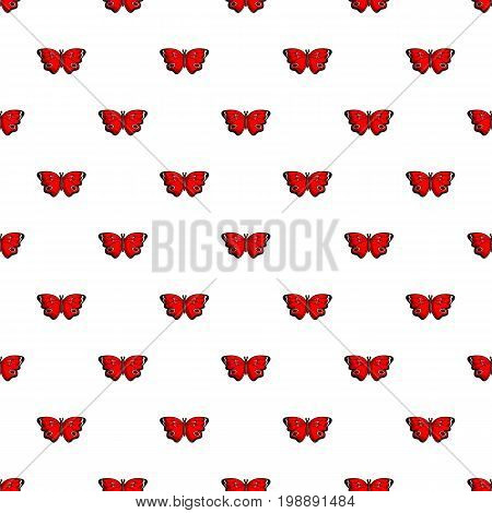Sangaris butterfly pattern in cartoon style. Seamless pattern vector illustration
