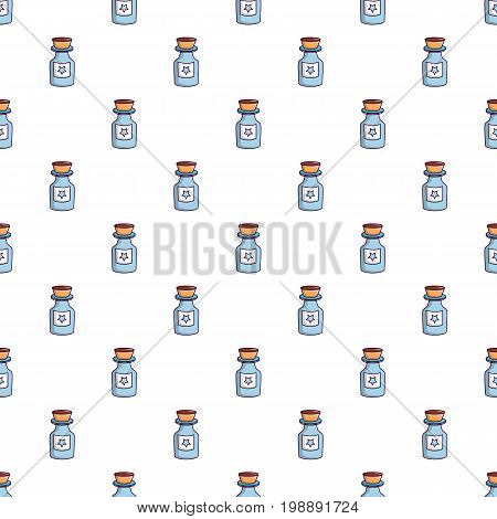 Bottle of magic pattern in cartoon style. Seamless pattern vector illustration