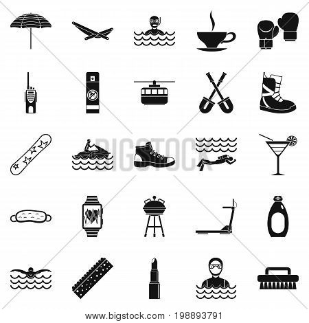 Therapy icons set. Simple set of 25 therapy vector icons for web isolated on white background