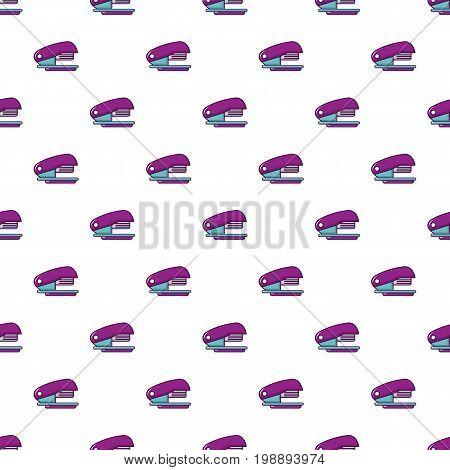 Stapler pattern in cartoon style. Seamless pattern vector illustration