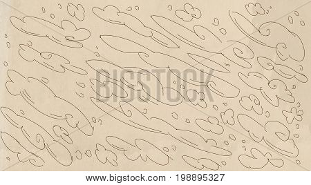 Neutral base effect canvas for artistic bases, for banner, cream cologne,With comic clouds where you can write