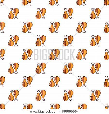 Chicken legs pattern in cartoon style. Seamless pattern vector illustration