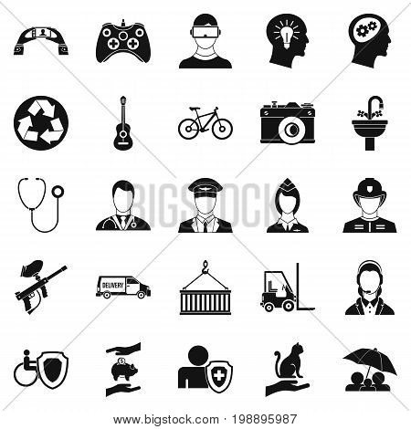 Personnel department icons set. Simple set of 25 personnel department vector icons for web isolated on white background