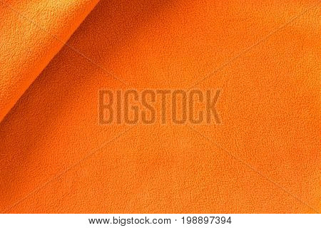beautiful orange fabric, textile texture for background