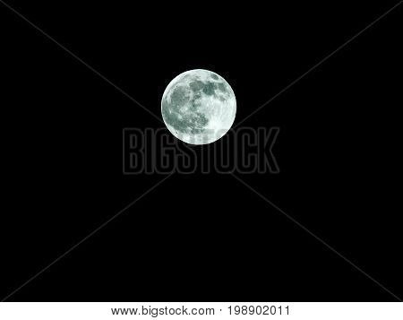 Full Moon and Lunar Eclipse / A full moon is the lunar phase that occurs when the Moon is completely illuminated as seen from Earth