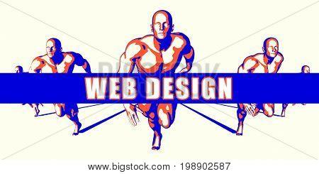 Web design as a Competition Concept Illustration Art