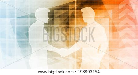 Business Development Illustration Concept for Presentation Art