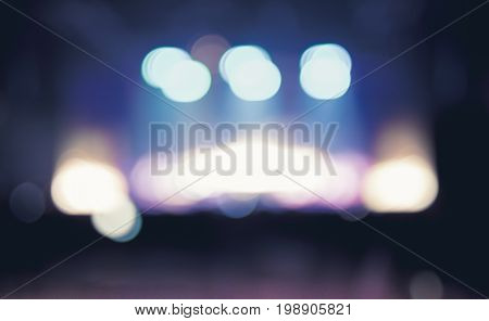 Blurred Abstract Background,bokeh Lighting In Concert ,music Showbiz Concept