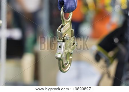 Carabiner for Climbing harness ;Quick Release ; Close up
